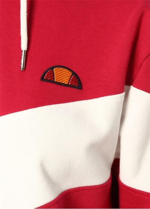 Pinton Fuşya Beyaz Kapüşonlu Sweatshirt