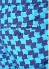 Lacivert Mavi Geometrik Desenli Cepli Mayo