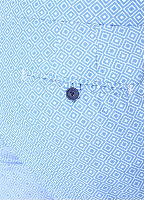 Mavi Mikro Desenli Mayo
