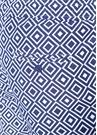 Lacivert Beyaz Geometrik Desenli Cepli Mayo