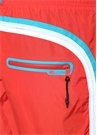 Kırmızı Beli Lastikli Şerit Detaylı Mayo
