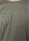 Gri Bisiklet Yaka Erkek T-shirt