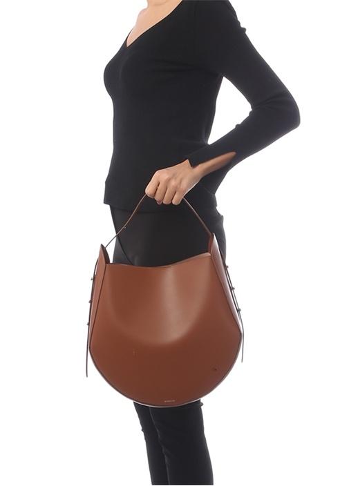 Tan Taba Kadın Deri Alışveriş Çantası