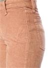 Somon Normal Bel Crop Kadife Jean Pantolon