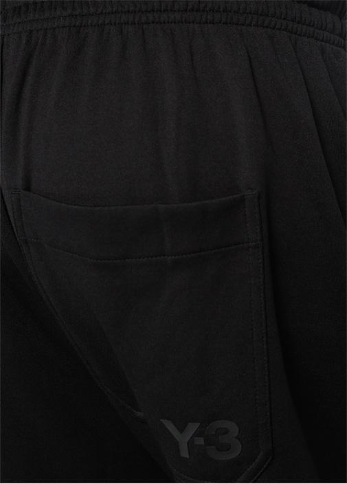 Siyah Bol Paça Yanları Şeritli Eşofman Altı