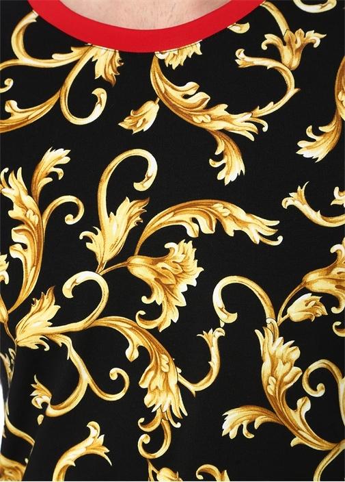 Barocco Siyah Gold Bisiklet Yaka Baskılı T-shirt