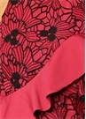 Break Free Pembe Dantelli Volanlı Midi Elbise