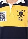 Classic Fit Sarı Lacivert Polo Yaka Sweatshirt