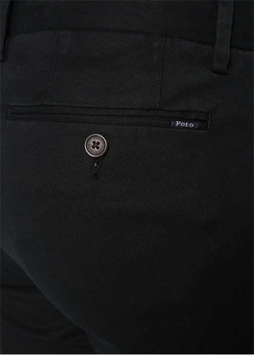 Stretch Slim Fit Siyah Kanvas Pantolon
