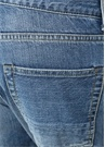 Lacivert Yıpratma Detaylı Boru Paça Jean Pantolon