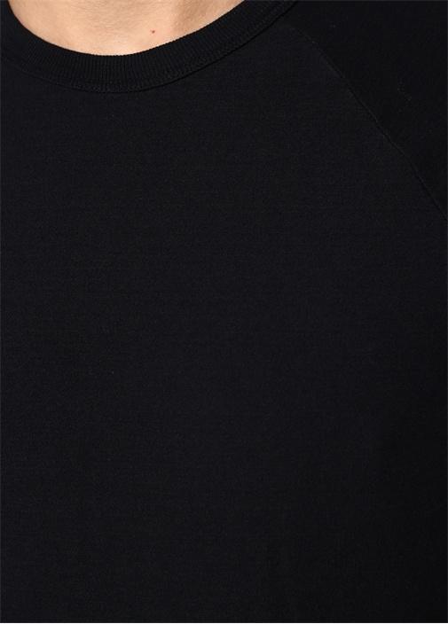 Lacivert Bisiklet Yaka Uzun Kollu T-shirt
