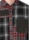 Turuncu Gri Ekose Desenli İngiliz Yaka Gömlek
