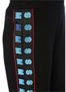 Siyah Bol Paça Şerit Logolu Bol Paça Pantolon