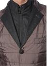 Drop 6 Antrasit Yaka Detaylı Dış Ceket