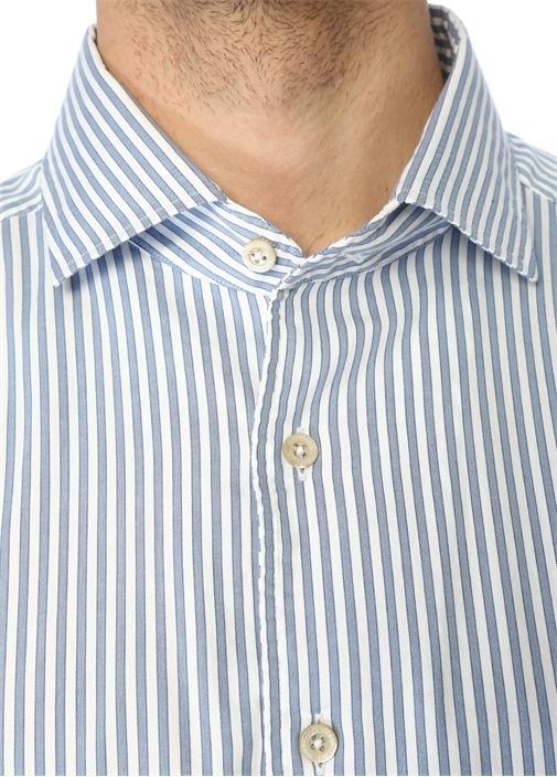 Drop 2 Mavi Beyaz Çizgili Gömlek
