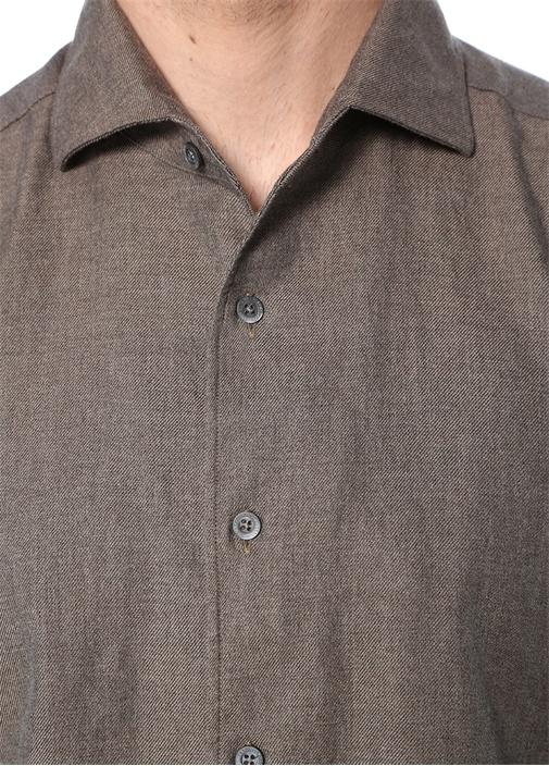 Vizon İngiliz Yaka Düğme Kapatmalı Gömlek