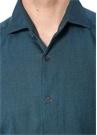 Yeşil İngiliz Yaka Düğme Kapatmalı Gömlek