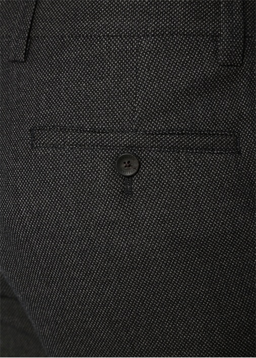 Drop 6 Antrasit Mikro Desenli Yün Pantolon