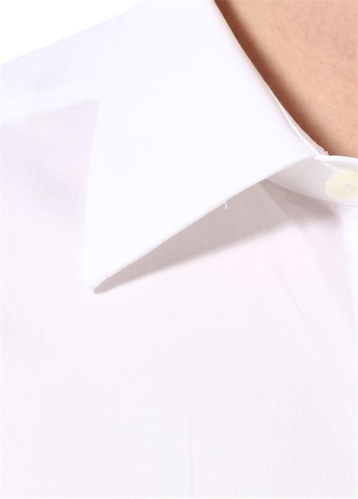 Drop 2 Beyaz İngiliz Yaka Gömlek