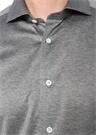 Drop 2 Gri Melanj İngiliz Yaka Düğmeli Gömlek