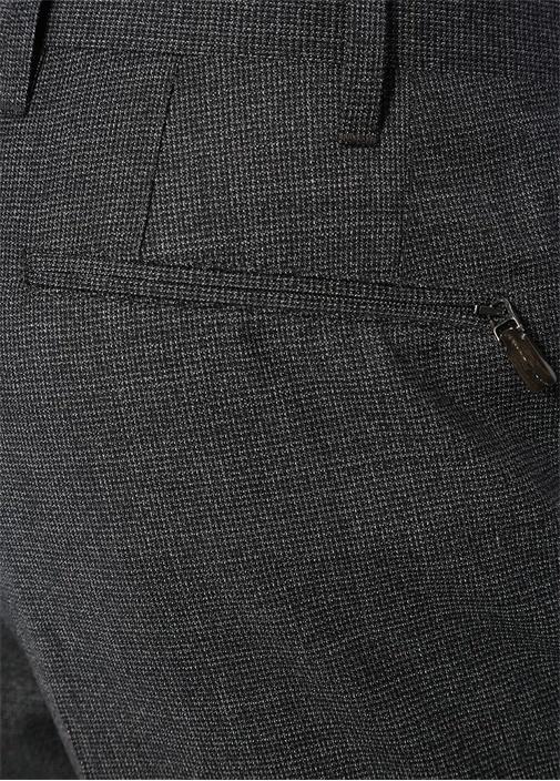 Drop 7 Antrasit Mikro Desenli Yün Pantolon