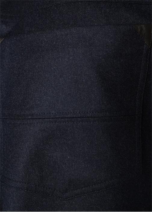 Drop 7 Antrasit Normal Bel Dokulu Yün Pantolon