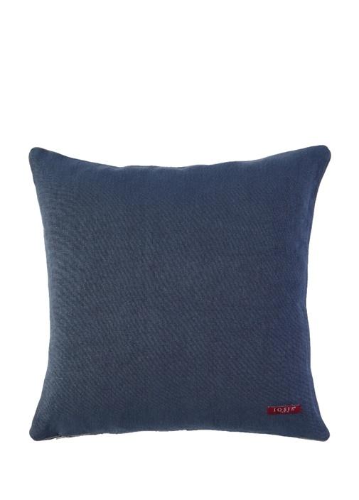 Pigment Lacivert 45x45 cm Keten Dekoratif Yastık