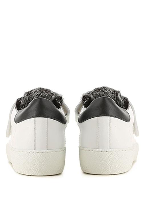 Lucie Beyaz Gri Kadın Deri Sneaker