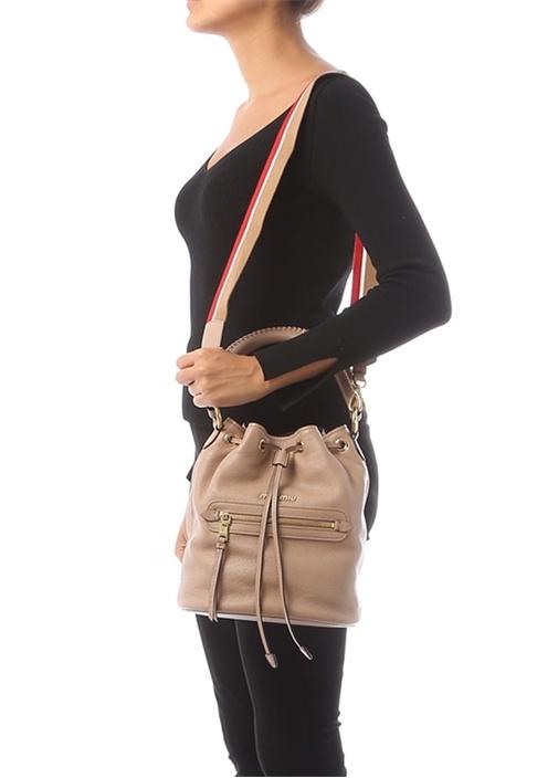 Somon Logolu Kadın Deri Çanta