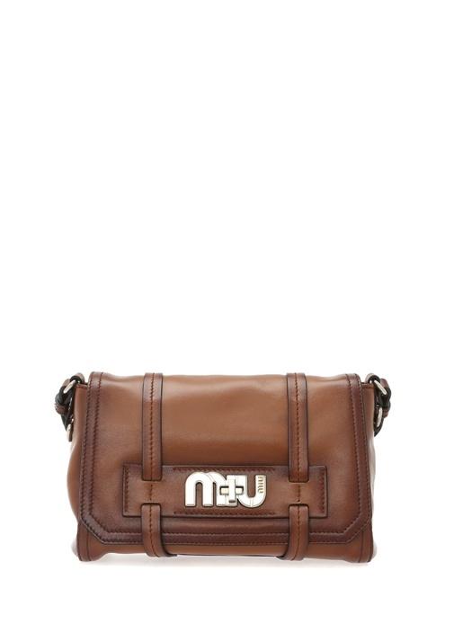 Grace Lux Kahverengi Logolu Kadın Deri Çanta