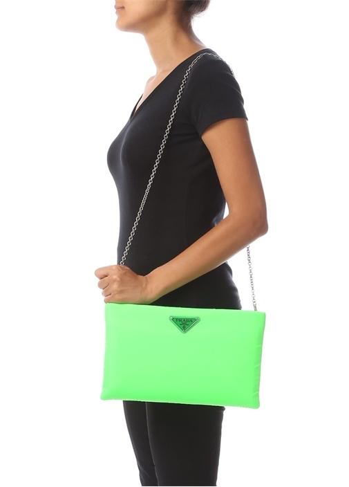 Neon Yeşil Medium Logolu Kadın Çanta
