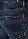 Slim Straight Fit Kayden Mavi Nakışlı Jean