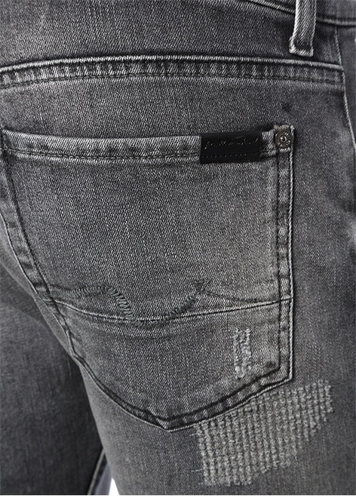 Kayden Slim Straight Fit Gri Jean Pantolon
