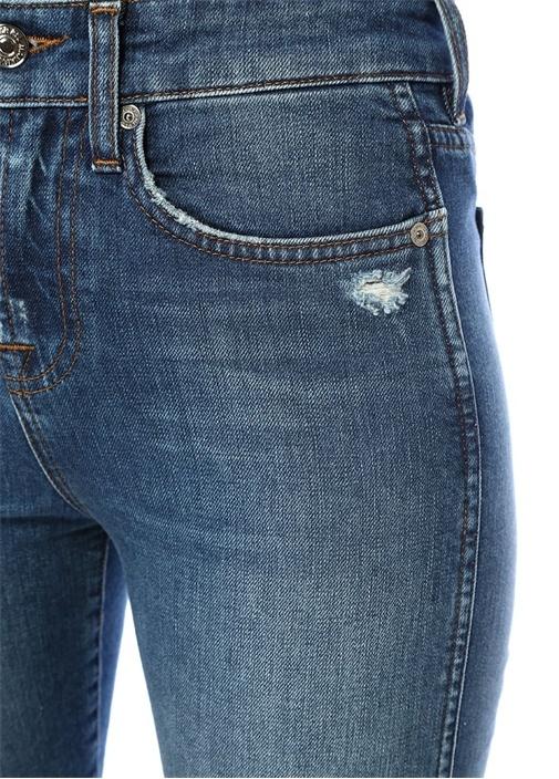 Erin Yüksek Bel Boru Paça Crop Jean Pantolon