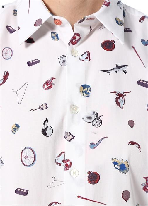Tailored Fit Artful Lives İngiliz Yaka Gömlek