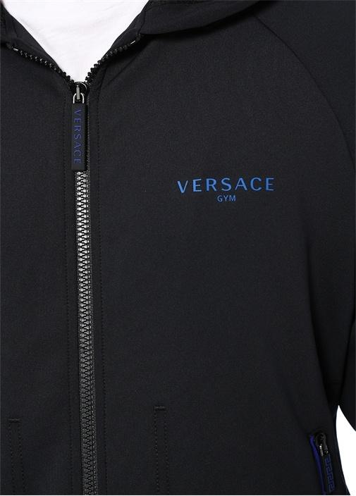 Lounge Siyah Kapüşonlu Logolu Sweatshirt