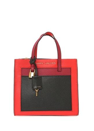 Marc Jacobs Kadın Colorblocked Mini Grind Dokulu Deri Çanta Kırmızı Ürün Resmi