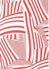 Magdalena Kırmızı Beyaz Çizgi Desenli Midi Etek