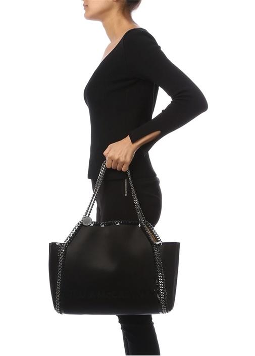 Siyah Zincir Detaylı Kadın Çanta