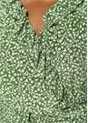 Yeşil Şal Desenli Mini İpek Anvelop Elbise