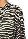 Joly Zebra Desenli Kuşaklı Uzun Kol Maksi Elbise