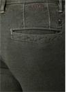 Haki Normal Bel Çizgi Dokulu Dar Paça Pantolon