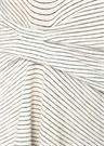 Riviera Çizgili Asimetrik Düğümlü Midi Elbise