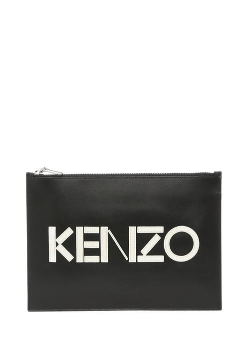Kenzo Siyah Logo Patchli Kadın Deri El Portföyü – 1199.0 TL