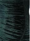Yeşil Asimetrik Drapeli Midi Kadife Elbise