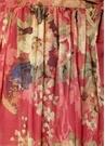 Melody Kırmızı Fırfırlı Maksi İpek Anvelop Elbise