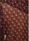 Jaya Şal Desenli Fırfırlı V Yaka Şifon İpek Bluz