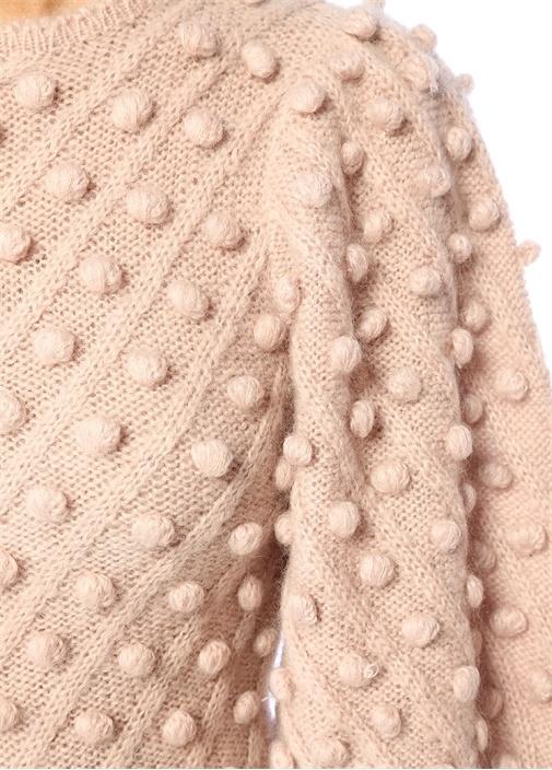 Unbridled Bauble Pudra Balon Kol Mini Triko Elbise