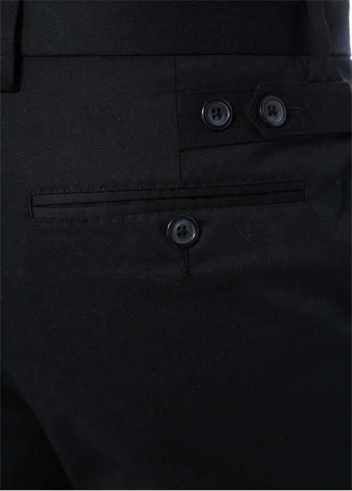Siyah Logo Patchli Pantolon