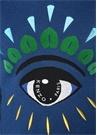 Lacivert Logo Nakışlı Yün Kazak